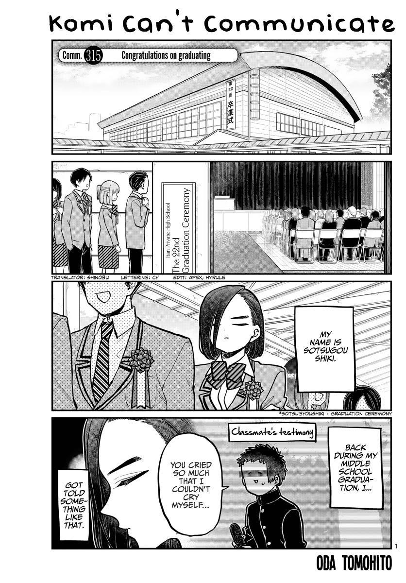 Komi-San Wa Komyushou Desu Chapter 315: Congratulations On Graduating page 1 - Mangakakalot