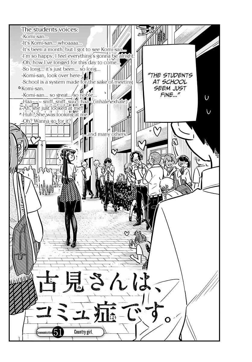 Komi-San Wa Komyushou Desu Vol.4 Chapter 51: Country Girl page 4 - Mangakakalot