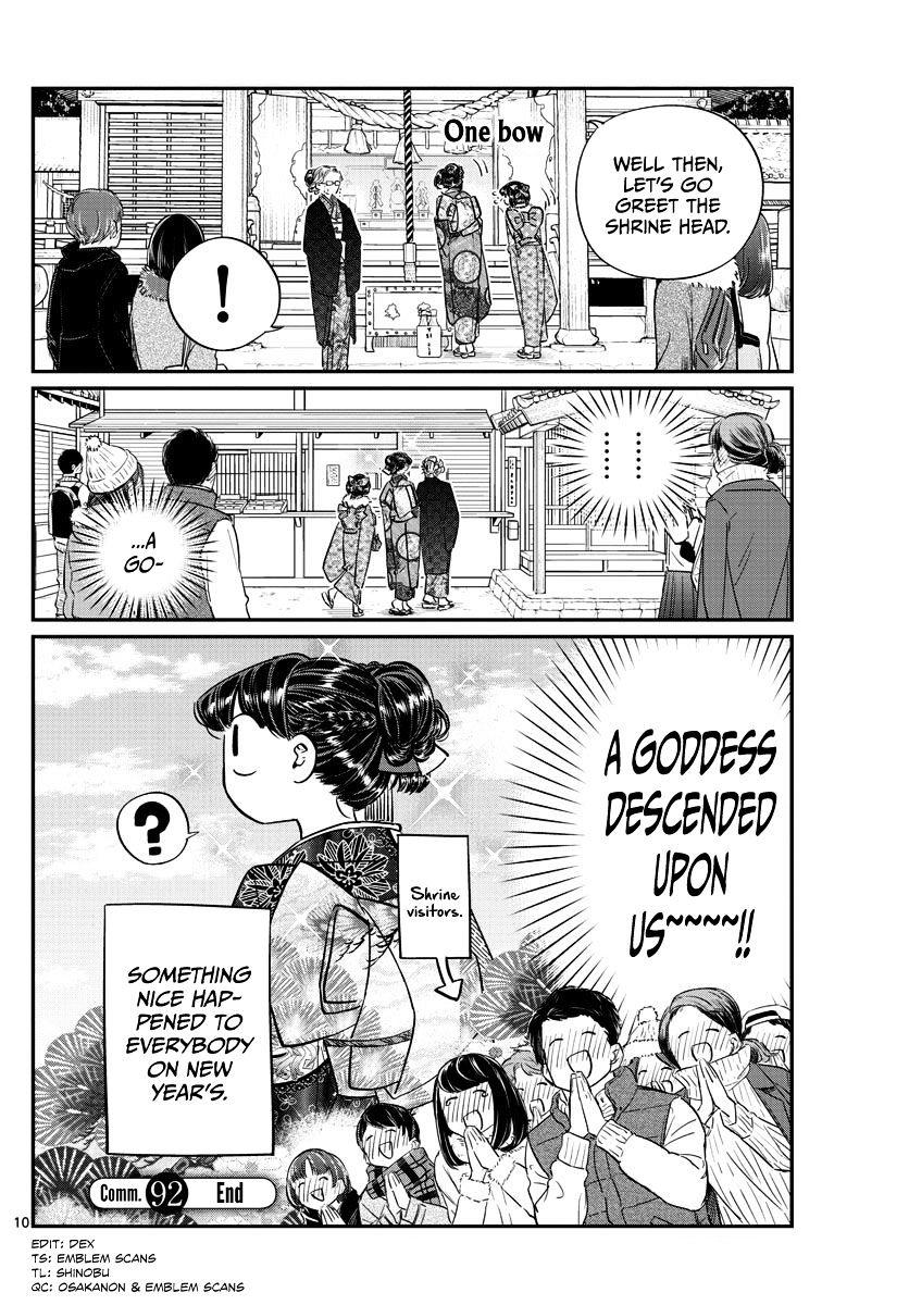 Komi-San Wa Komyushou Desu Vol.7 Chapter 92: It's New Year's page 10 - Mangakakalot