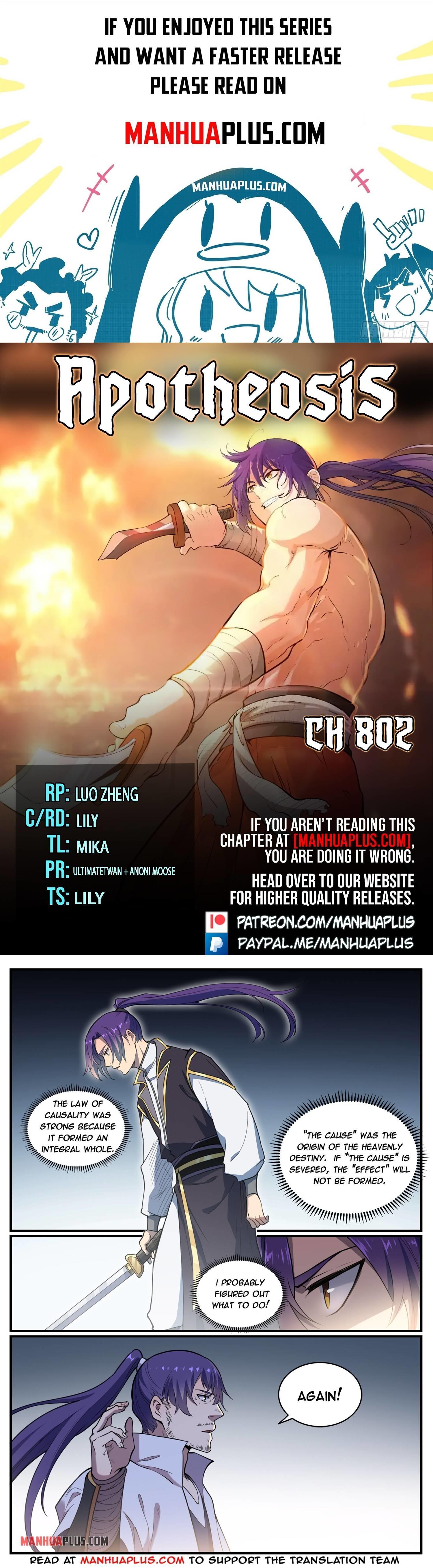 Apotheosis Chapter 802 page 1 - Mangakakalots.com