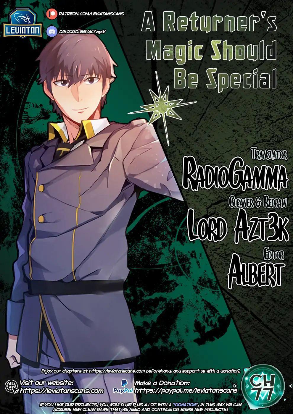 A Returner's Magic Should Be Special Chapter 77 page 1 - Mangakakalots.com