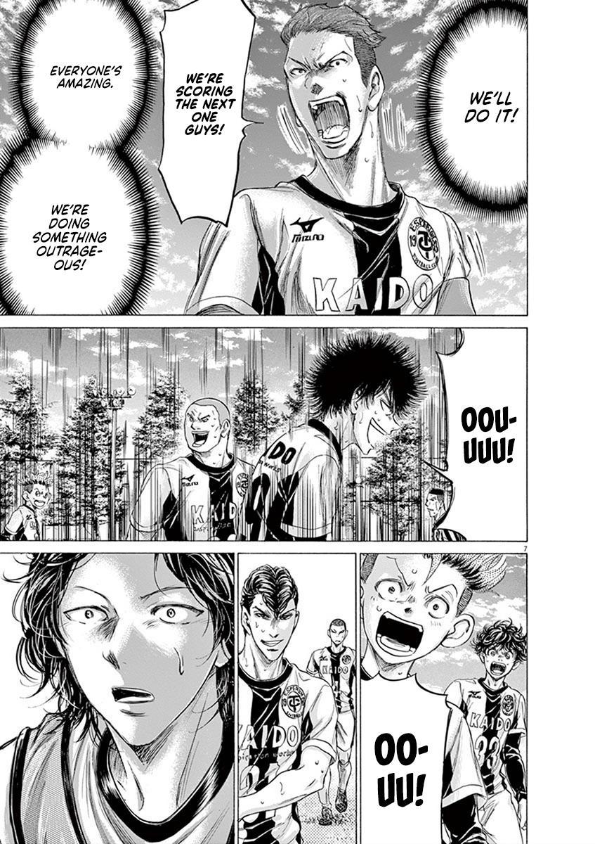 Ao Ashi Vol.18 Chapter 184: Takasugi And Resolute Solidarity page 7 - Mangakakalots.com