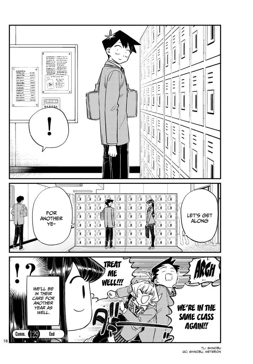 Komi-San Wa Komyushou Desu Vol.10 Chapter 129: One Year page 18 - Mangakakalot