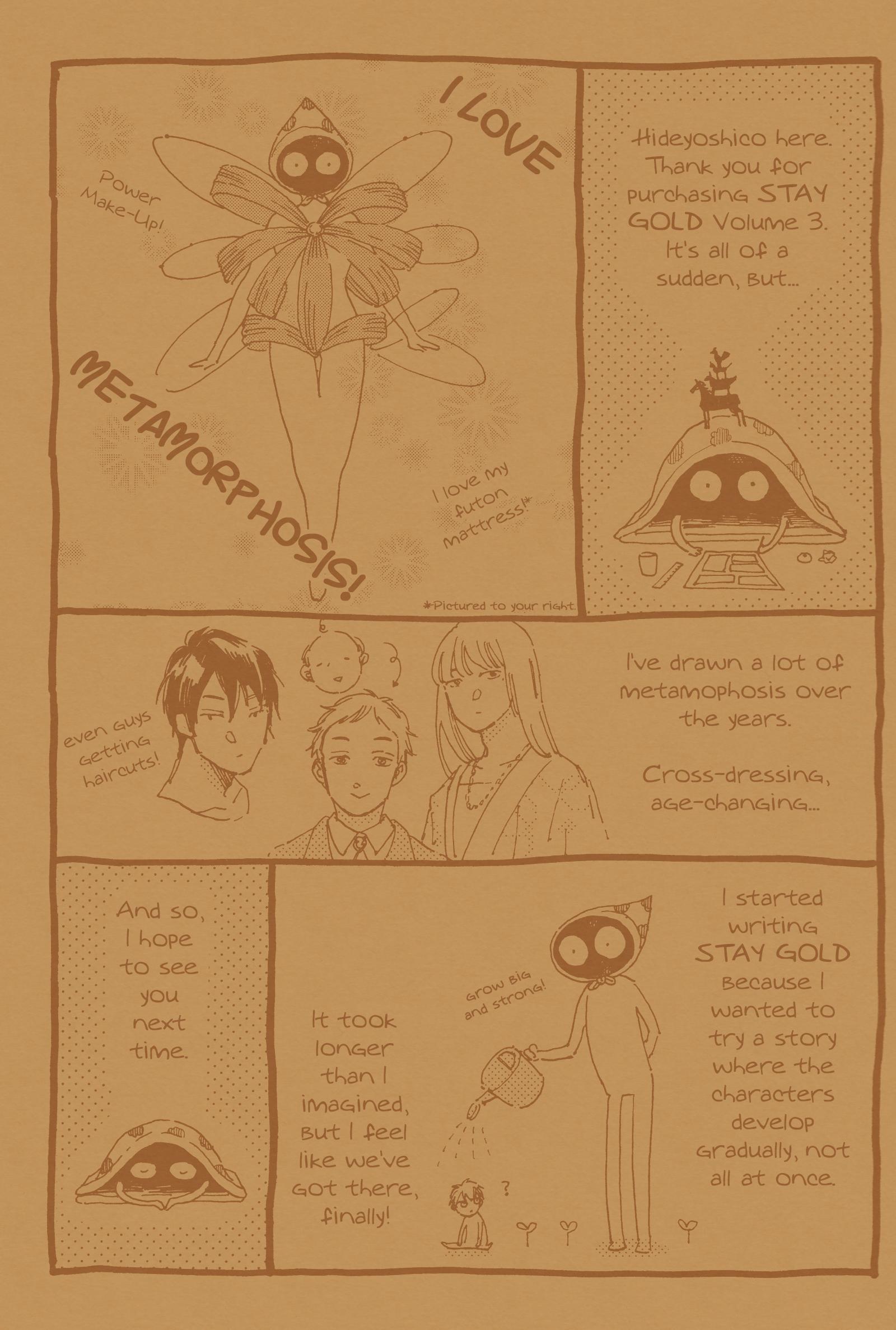 Stay Gold (Hideyoshico) Vol.3 Chapter 17.1: Extras page 3 - Mangakakalots.com