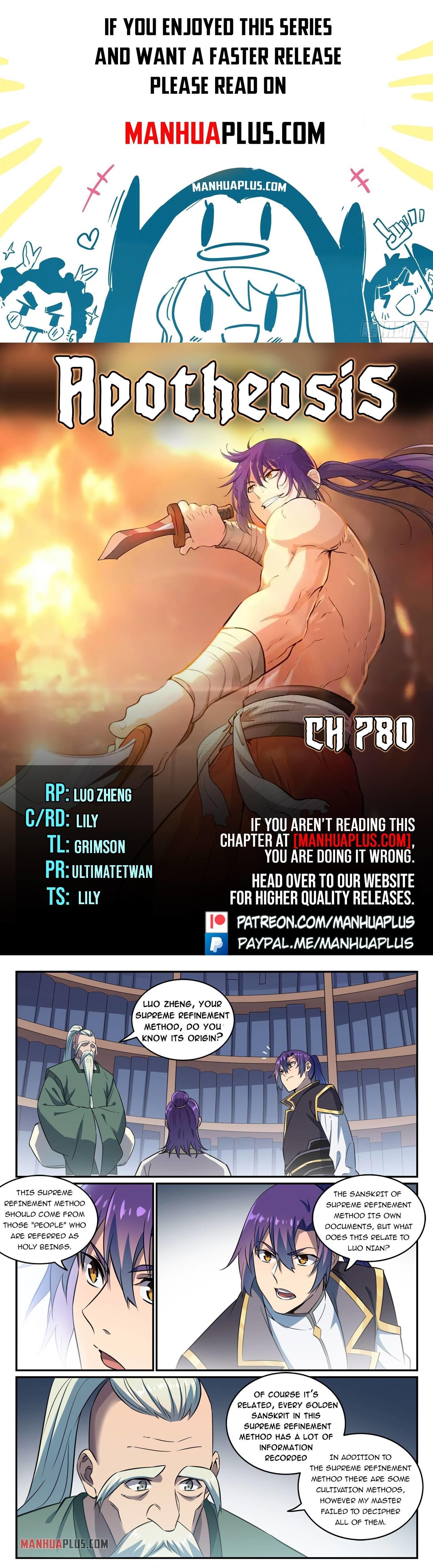 Apotheosis Chapter 780 page 1 - Mangakakalots.com