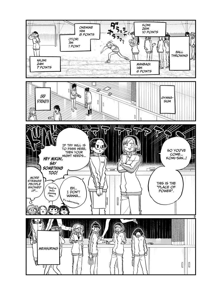 Komi-San Wa Komyushou Desu Vol.10 Chapter 137: Physical Examination 2 page 9 - Mangakakalot
