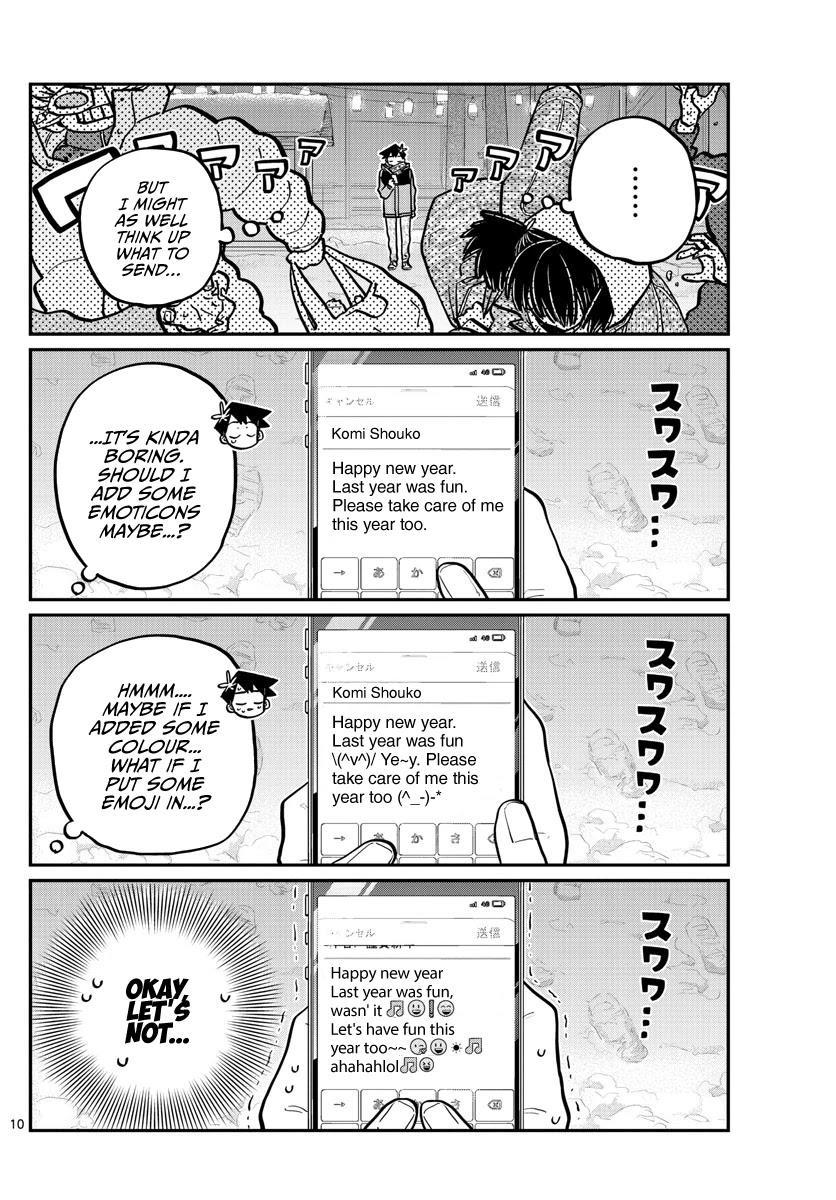 Komi-San Wa Komyushou Desu Chapter 274: End Of The Year You Can't Laugh At. page 10 - Mangakakalot