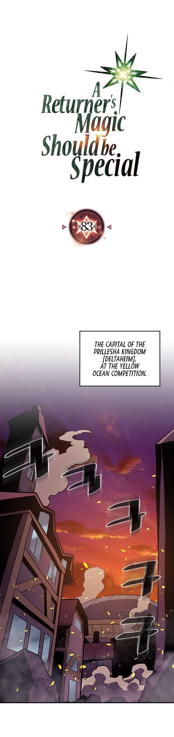 A Returner's Magic Should Be Special Chapter 83 page 1 - Mangakakalots.com